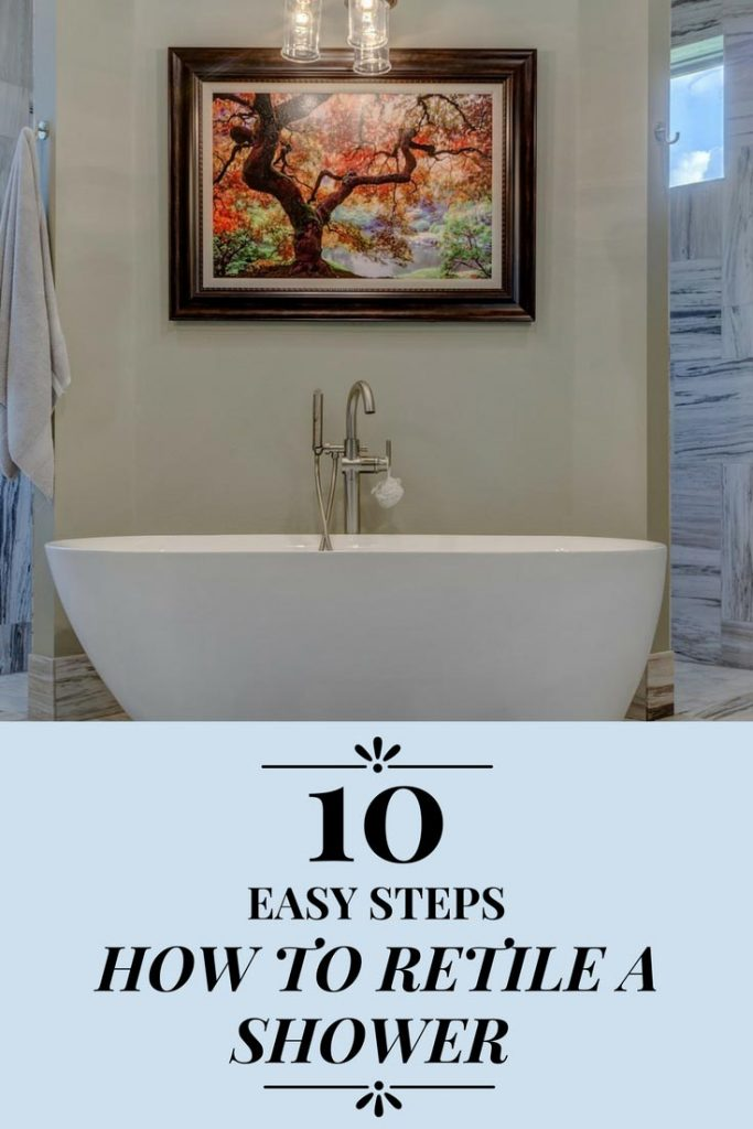 learn how to retile a shower in 10 easy steps bathroom remolding. Black Bedroom Furniture Sets. Home Design Ideas