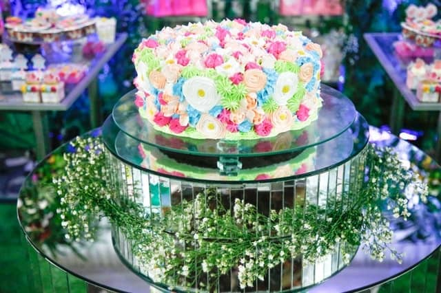Beautiful Flower Birthday Cake Design