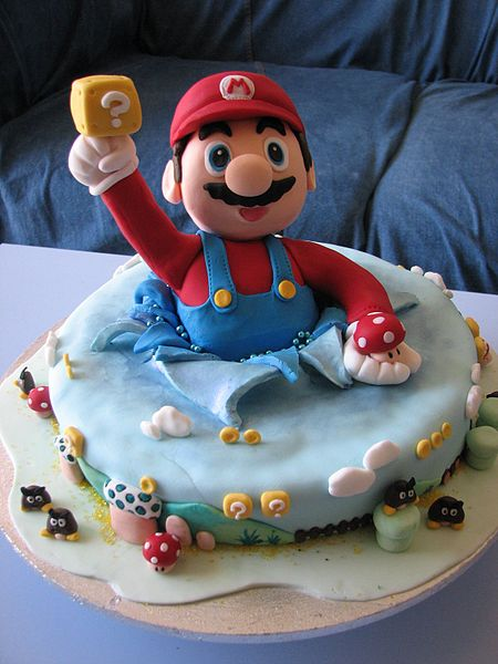 Super Mario Birthday Cake Design