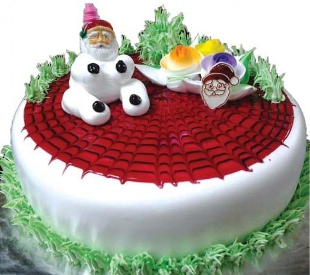 Simple Chirstmas Cake Design Ideas