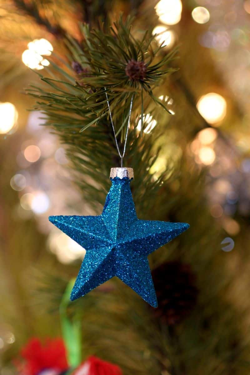 Blue Star Ornaments Christmas Tree Decor