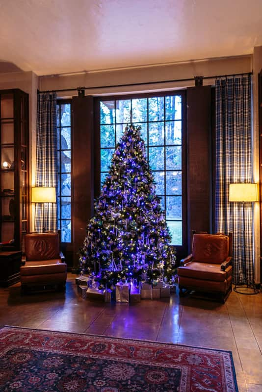 Blue lights Decor Artificial Christmas Tree