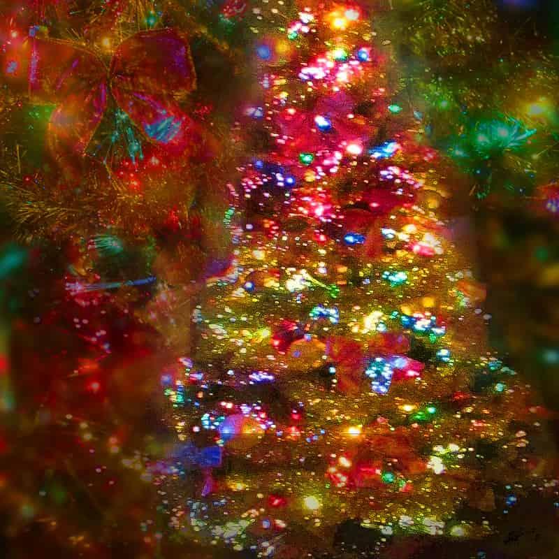 Colorful Lights Decor Christmas Tree