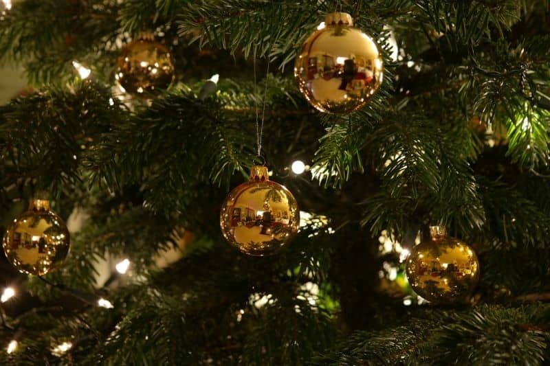 Gold Glass Buble Ornaments Christmas Tree Decor