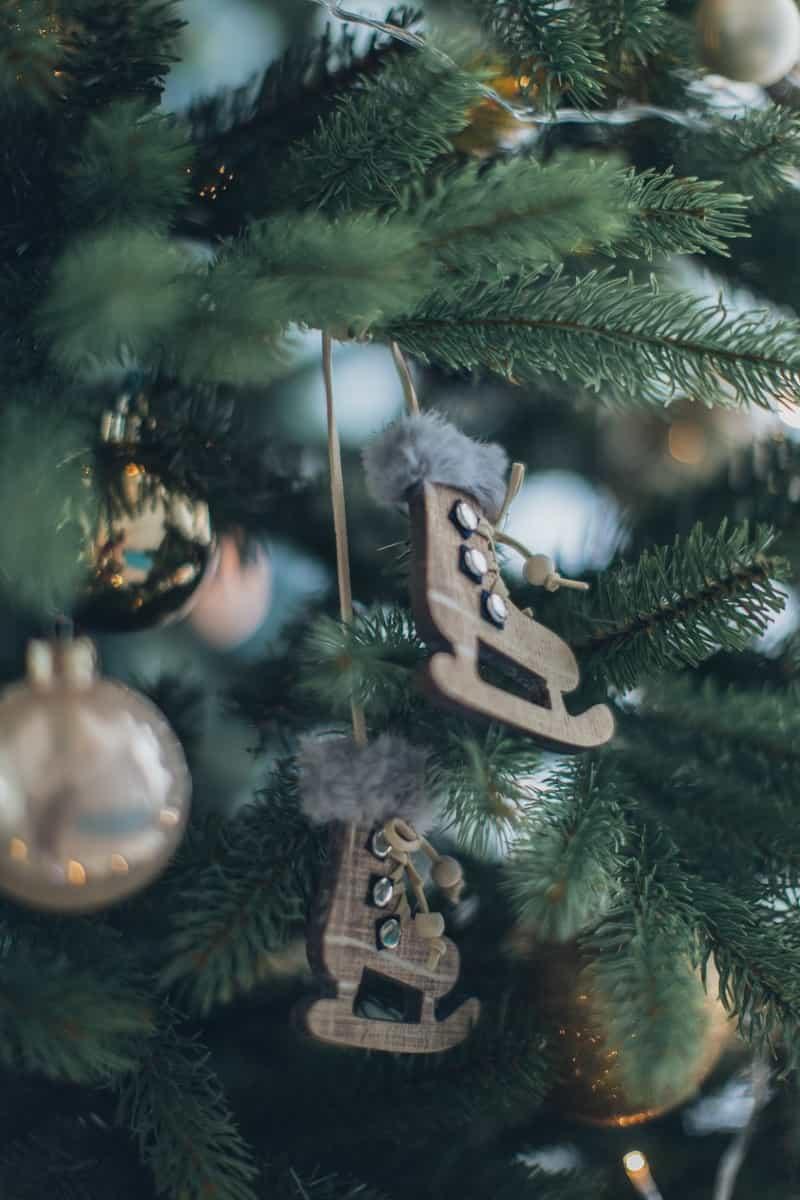Ice Skates Christmas Tree Decor