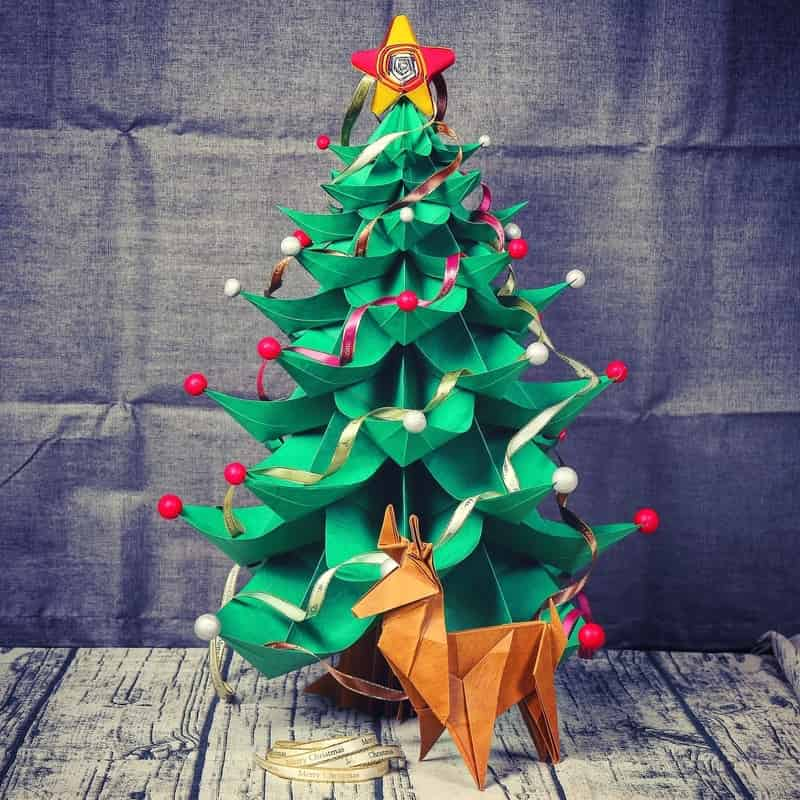Paper Decor Christmas Christmas Tree