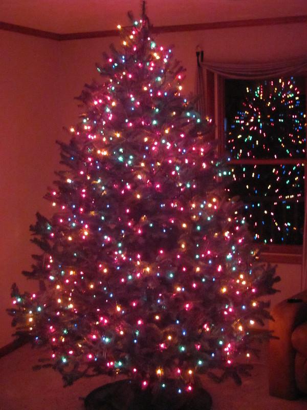 Pink Lights Decor Artificial Christmas Tree