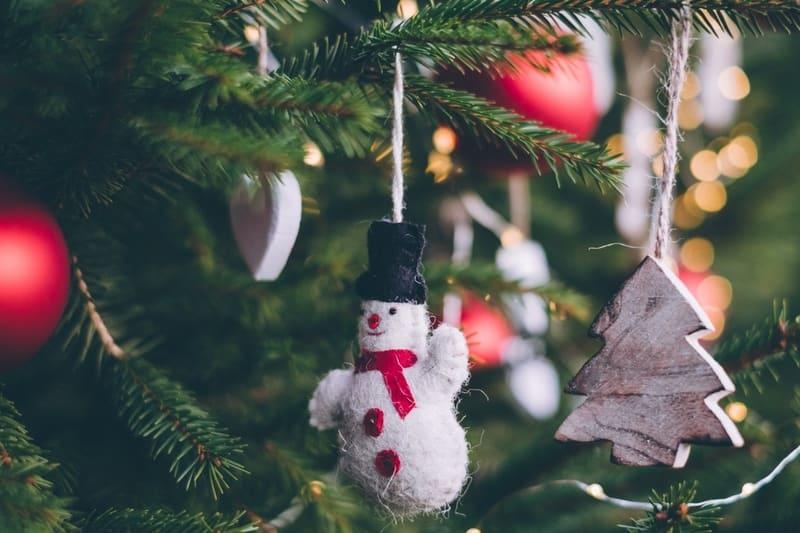 Snowman Bubbles Ornaments Christmas Tree