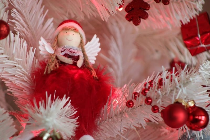 White Red Angel Christmas Tree Decoration