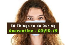 39 Things to do during Quarantine - COVID-19
