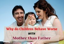 Why do Children Behave Worse with Mother than Father